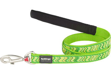 Red Dingo Fixed Length Lead Pizzazz Lime Green L4-PZ-LG