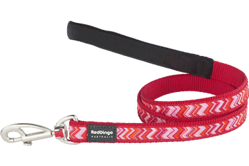 Red Dingo Fixed Length Lead Pizzazz Red L4-PZ-RE