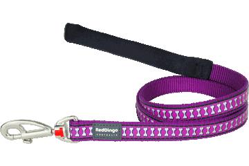Red Dingo Leine mit fixer Länge Reflektierende Knochen Violett L4-RB-PU