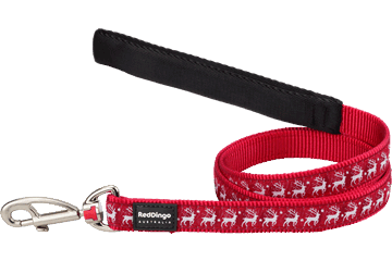 Red Dingo Fixed Length Lead Reindeer Red L4-RD-RE