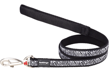 Red Dingo Fixed Length Lead Safari Black L4-SA-BB