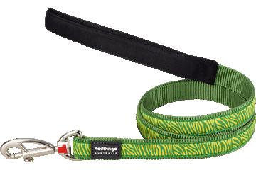 Red Dingo Fixed Length Lead Safari Green L4-SA-GR
