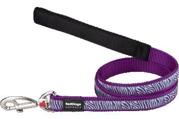Red Dingo Fixed Length Lead Safari Purple L4-SA-PU
