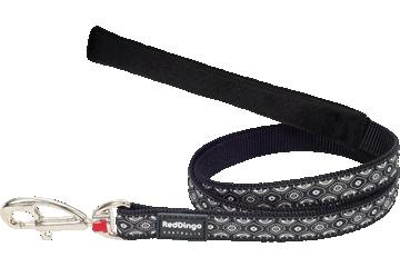 Red Dingo Fixed Length Lead Snake Eyes Black L4-SE-BB