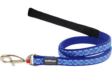 Red Dingo Fixed Length Lead Snake Eyes Dark Blue L4-SE-DB