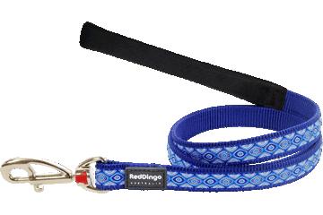 Red Dingo Fixed Length Lead Snake Eyes Dark Blue L4-SE-DB