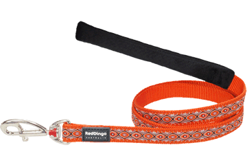 Red Dingo Fixed Length Lead Snake Eyes Orange L4-SE-OR