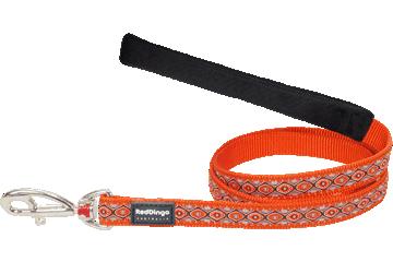 Red Dingo Fixed Length Lead Snake Eyes Orange L4-SE-OR