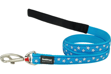 Red Dingo Fixed Length Lead Stars Turquoise L4-ST-TQ