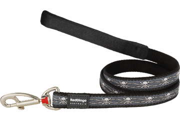 Red Dingo Fixed Length Lead Skull & Wire Black L4-SW-BB