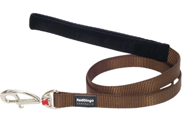 Red Dingo Fixed Length Lead Classic Brown L4-ZZ-BR