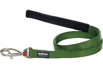 Red Dingo Leine mit fixer Länge Klassisch Grün L4-ZZ-GR