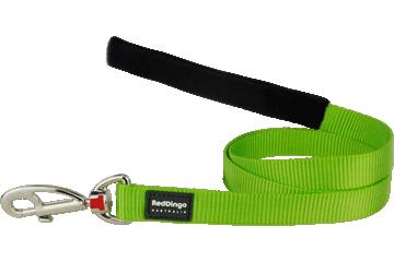 Red Dingo Leine mit fixer Länge Klassisch Lime Grün L4-ZZ-LG