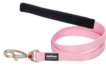 Red Dingo Leine mit fixer Länge Klassisch Pink L4-ZZ-PK