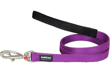 Red Dingo Leine mit fixer Länge Klassisch Violett L4-ZZ-PU