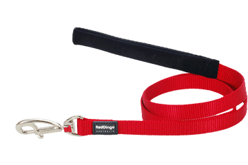 Red Dingo Fixed Length Lead Classic Red L4-ZZ-RE