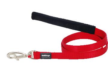Red Dingo Leine mit fixer Länge Klassisch Rot L4-ZZ-RE
