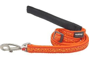 Red Dingo Adjustable Lead Bedrock Orange L6-BE-OR