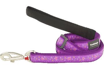Red Dingo Adjustable Lead Butterfly Purple L6-BL-PU