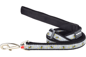 Red Dingo Adjustable Lead Bumble Bee Black L6-BM-BB