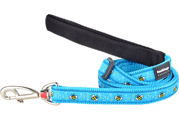 Red Dingo Adjustable Lead Bumble Bee Turquoise L6-BM-TQ