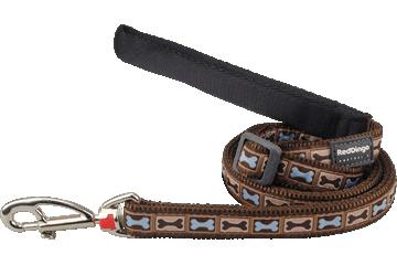 Red Dingo Adjustable Lead Bone Yard Brown L6-BY-BR