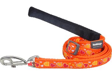 Red Dingo Adjustable Lead Breezy Love Orange L6-BZ-OR