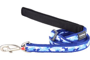 Red Dingo Adjustable Lead Camouflage Dark Blue L6-CF-DB