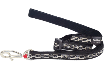 Red Dingo Adjustable Lead Chain Black L6-CN-BB