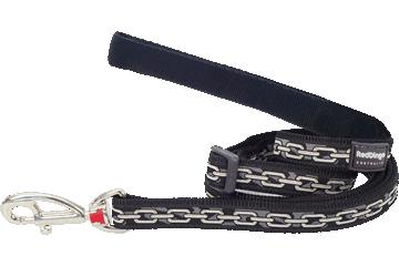 Red Dingo Adjustable Lead Chain Black L6-CN-BB