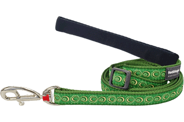 Red Dingo Adjustable Lead Cosmos Green L6-CO-GR