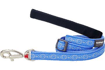 Red Dingo Adjustable Lead Cosmos Medium Blue L6-CO-MB