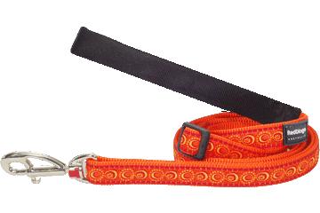 Red Dingo Adjustable Lead Cosmos Orange L6-CO-OR