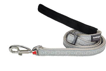Red Dingo Adjustable Lead Cosmos Silver L6-CO-SI
