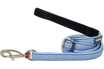 Red Dingo Adjustable Lead Daisy Chain Light Blue L6-DC-LB