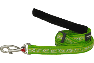 Red Dingo Adjustable Lead Daisy Chain Lime Green L6-DC-LG