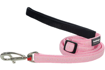 Red Dingo Adjustable Lead Daisy Chain Pink L6-DC-PK