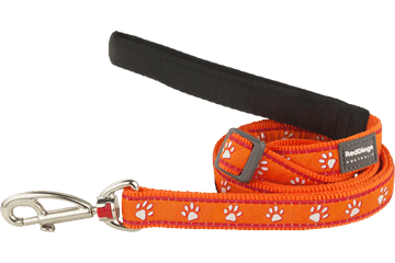 Red Dingo Adjustable Lead Desert Paws Orange L6-DP-OR