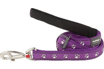 Red Dingo Adjustable Lead Desert Paws Purple L6-DP-PU