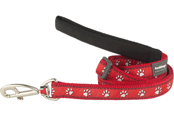 Red Dingo Adjustable Lead Desert Paws Red L6-DP-RE
