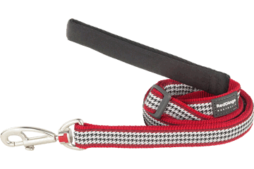 Red Dingo Adjustable Lead Fang It Red L6-FG-RE