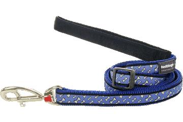 Red Dingo Adjustable Lead Flying Bones Dark Blue L6-FL-DB