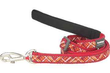 Red Dingo Adjustable Lead Flanno Red L6-FN-RE