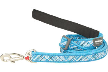Red Dingo Adjustable Lead Flanno Turquoise L6-FN-TQ