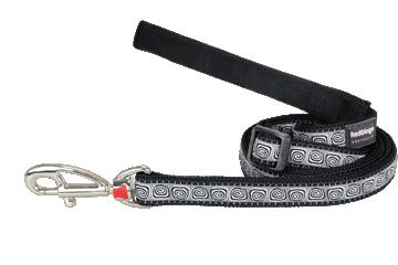 Red Dingo Adjustable Lead Hypno Black L6-HY-BB