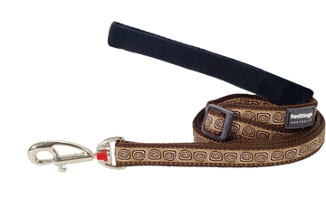 Red Dingo Adjustable Lead Hypno Brown L6-HY-BR