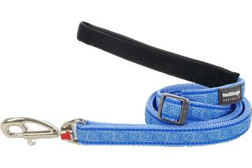 Red Dingo Adjustable Lead Hypno Medium Blue L6-HY-MB