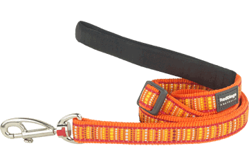 Red Dingo Adjustable Lead Lotzadotz Orange L6-LD-OR