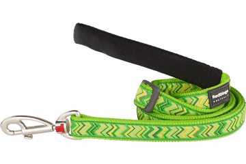 Red Dingo Adjustable Lead Pizzazz Lime Green L6-PZ-LG
