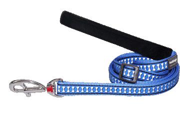 Red Dingo Verstellbare Leine Reflective Bones Mittelblau L6-RB-MB